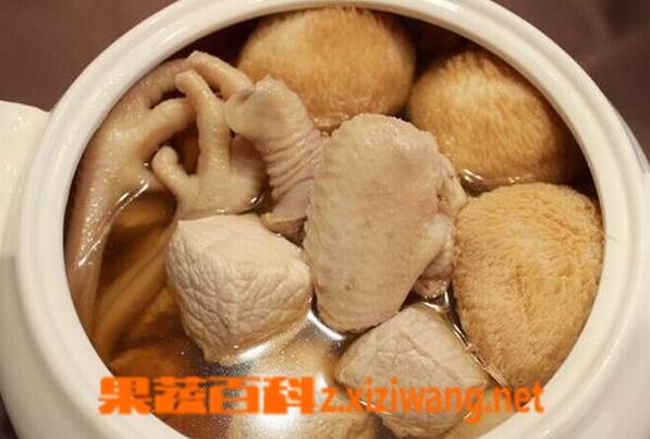 果蔬百科猴头菇鸡汤